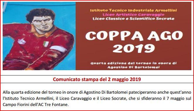 Coppa AGO 2019 comunicato stampa