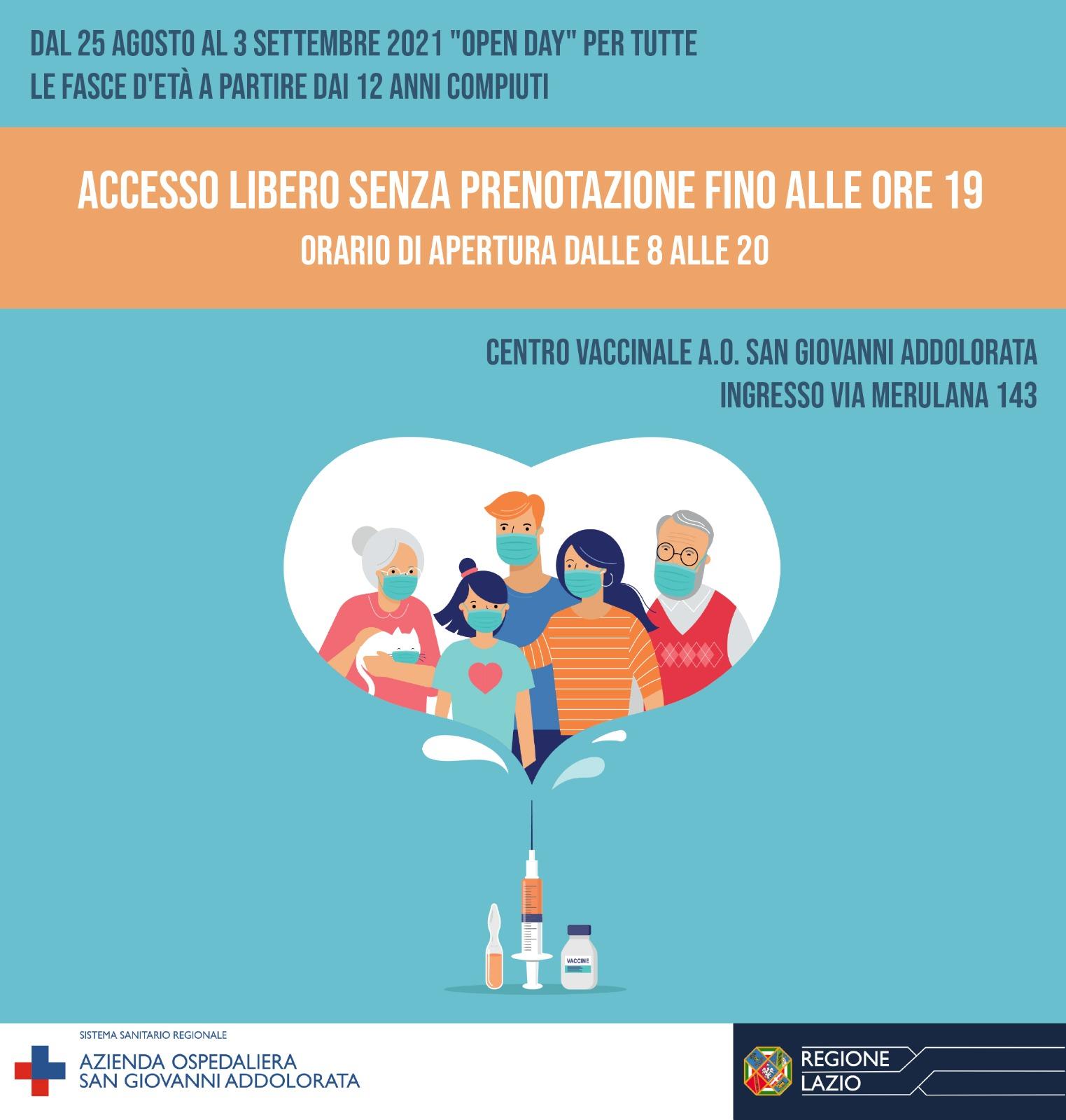 Locandina vaccinazione Open AOSGA
